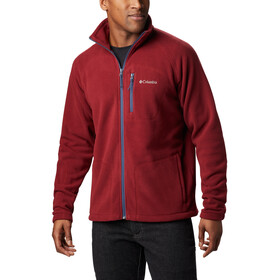 Columbia Fast Trek II Giacca in pile con zip intera Uomo, red jasper/dark mountain